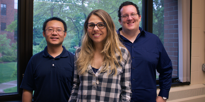 Left to right: Drs. Bo Hu, Vanessa Pegos and Mikael Elias via CBS Connect