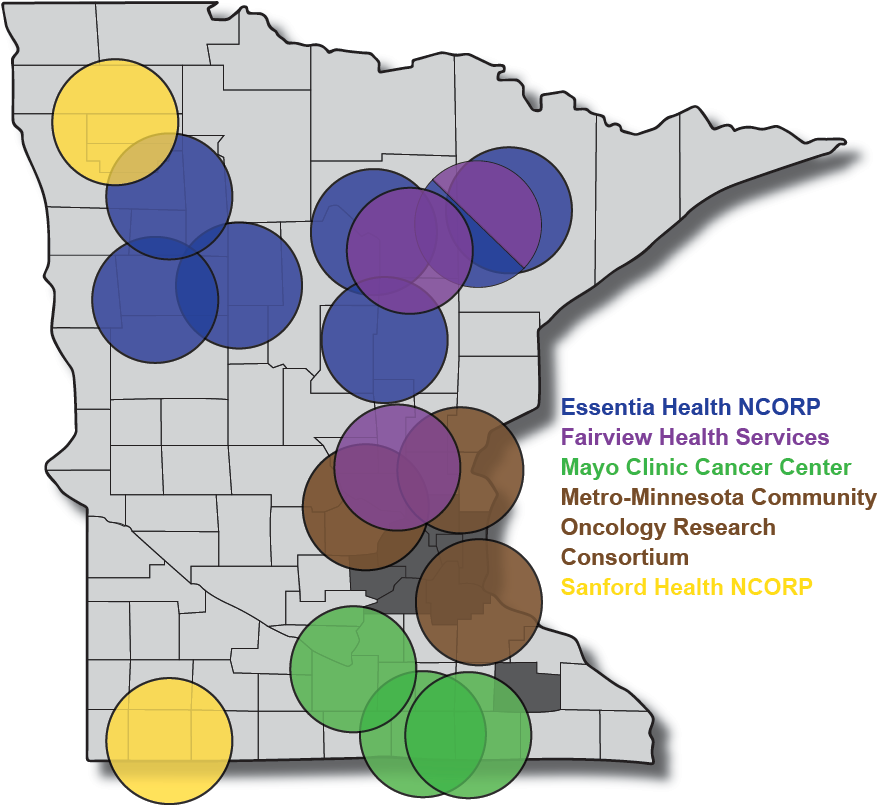 Map of MNCCTN locations